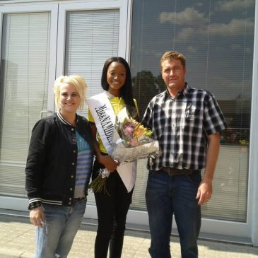 Miss Namibia ' s Homecoming event with Poolman Motors